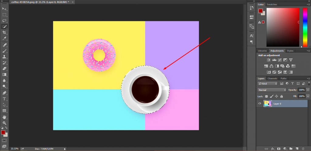 Cut Out Image In Photoshop 8
