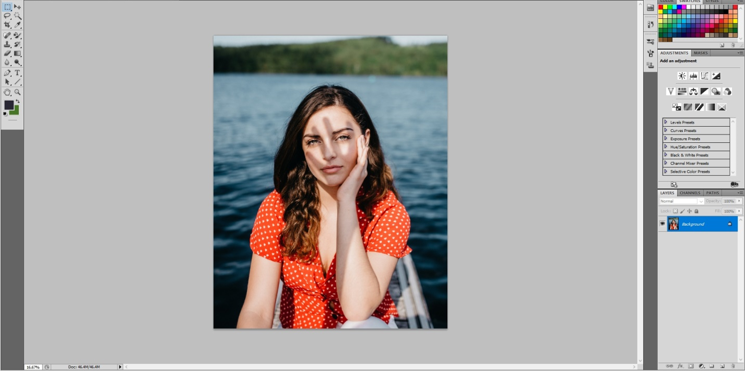 remove shadow in photoshop