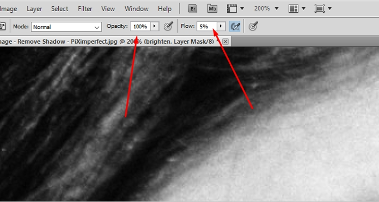 How to remove shadow in photoshop 10
